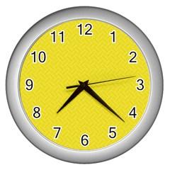 Pattern Wall Clocks (silver)  by Valentinaart