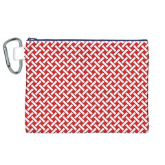 Pattern Canvas Cosmetic Bag (xl) by Valentinaart