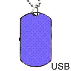 Pattern Dog Tag Usb Flash (one Side) by Valentinaart