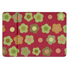 Floral Pattern Samsung Galaxy Tab 8 9  P7300 Flip Case by Valentinaart