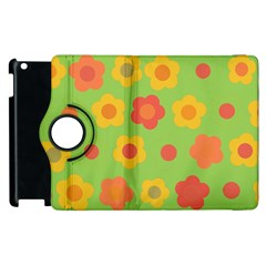 Floral Pattern Apple Ipad 2 Flip 360 Case by Valentinaart