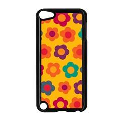 Floral Pattern Apple Ipod Touch 5 Case (black) by Valentinaart