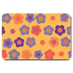 Floral Pattern Large Doormat  by Valentinaart
