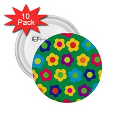 Floral Pattern 2 25  Buttons (10 Pack)  by Valentinaart