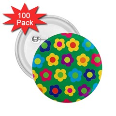 Floral Pattern 2 25  Buttons (100 Pack)  by Valentinaart