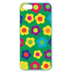 Floral Pattern Apple Seamless Iphone 5 Case (color) by Valentinaart