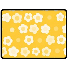 Floral Pattern Fleece Blanket (large)  by Valentinaart