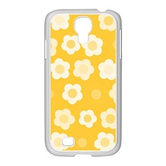 Floral Pattern Samsung Galaxy S4 I9500/ I9505 Case (white) by Valentinaart