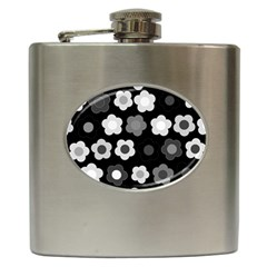 Floral Pattern Hip Flask (6 Oz) by Valentinaart