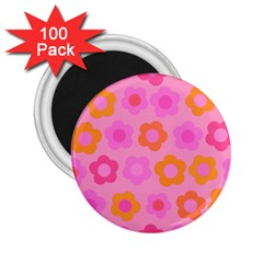 Pink Floral Pattern 2 25  Magnets (100 Pack)  by Valentinaart