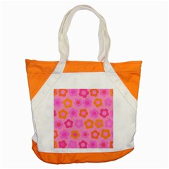 Pink Floral Pattern Accent Tote Bag by Valentinaart