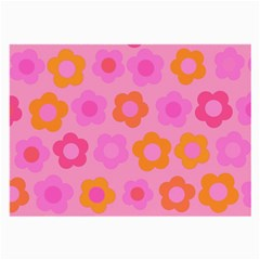 Pink Floral Pattern Large Glasses Cloth by Valentinaart