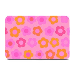 Pink Floral Pattern Plate Mats by Valentinaart