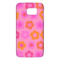 Pink Floral Pattern Galaxy S6 by Valentinaart
