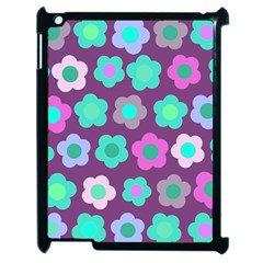 Floral Pattern Apple Ipad 2 Case (black) by Valentinaart