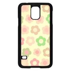 Floral Pattern Samsung Galaxy S5 Case (black) by Valentinaart