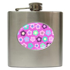 Floral Pattern Hip Flask (6 Oz) by Valentinaart