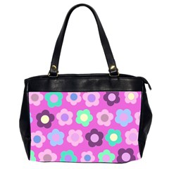 Floral Pattern Office Handbags (2 Sides)  by Valentinaart