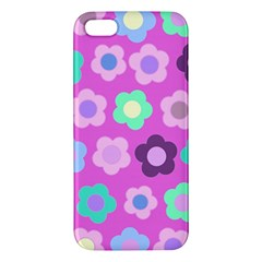 Floral Pattern Apple Iphone 5 Premium Hardshell Case by Valentinaart