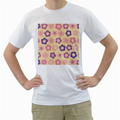 Floral Pattern Men s T Shirt (white) (two Sided) by Valentinaart