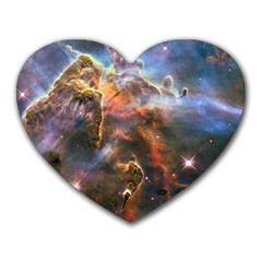 Pillar And Jets Heart Mousepads by SpaceShop