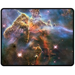 Pillar And Jets Double Sided Fleece Blanket (medium)  by SpaceShop