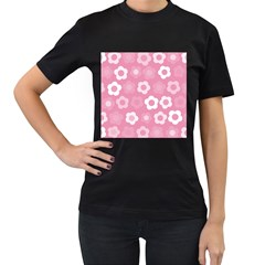 Floral Pattern Women s T Shirt (black) (two Sided) by Valentinaart
