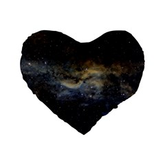 Propeller Nebula Standard 16  Premium Heart Shape Cushions by SpaceShop