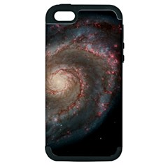 Whirlpool Galaxy And Companion Apple Iphone 5 Hardshell Case (pc+silicone) by SpaceShop