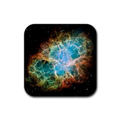 Crab Nebula Rubber Square Coaster (4 Pack)  by SpaceShop