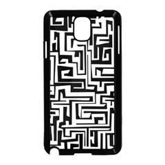 Pattern Samsung Galaxy Note 3 Neo Hardshell Case (black) by Valentinaart