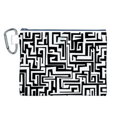 Pattern Canvas Cosmetic Bag (l) by Valentinaart