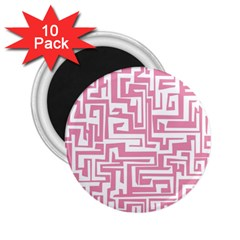 Pink Pattern 2 25  Magnets (10 Pack)  by Valentinaart