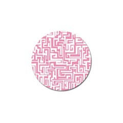 Pink Pattern Golf Ball Marker (4 Pack) by Valentinaart