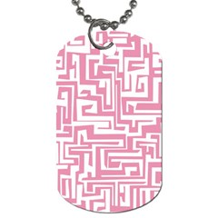 Pink Pattern Dog Tag (two Sides) by Valentinaart