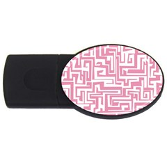 Pink Pattern Usb Flash Drive Oval (4 Gb) by Valentinaart