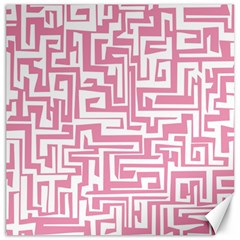 Pink Pattern Canvas 12  X 12   by Valentinaart