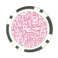 Pink Pattern Poker Chip Card Guard by Valentinaart