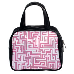 Pink Pattern Classic Handbags (2 Sides) by Valentinaart