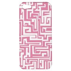 Pink Pattern Apple Iphone 5 Hardshell Case by Valentinaart