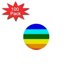 Rainbow 1  Mini Buttons (100 Pack)  by Valentinaart
