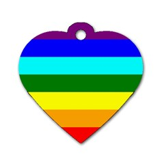 Rainbow Dog Tag Heart (one Side) by Valentinaart