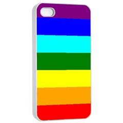 Rainbow Apple Iphone 4/4s Seamless Case (white) by Valentinaart