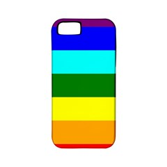 Rainbow Apple Iphone 5 Classic Hardshell Case (pc+silicone) by Valentinaart