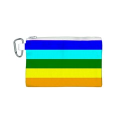 Rainbow Canvas Cosmetic Bag (s) by Valentinaart