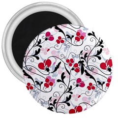 Floral Pattern 3  Magnets by Valentinaart