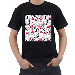 Floral Pattern Men s T Shirt (black) by Valentinaart