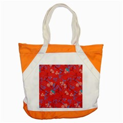 Floral Pattern Accent Tote Bag by Valentinaart