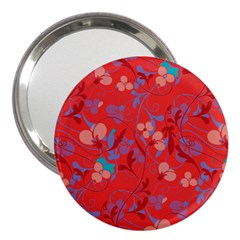 Floral Pattern 3  Handbag Mirrors by Valentinaart