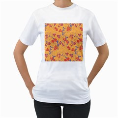 Floral Pattern Women s T Shirt (white) (two Sided) by Valentinaart